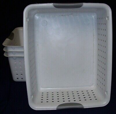 Restaurant Equipment Bar Supplies 4 Sterilite Large Ultra Baskets