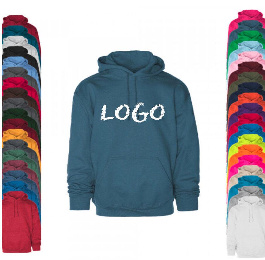 Kapuzenpullover Hoodie individuell bestickt Stickerei Wunsch Text Logo Name