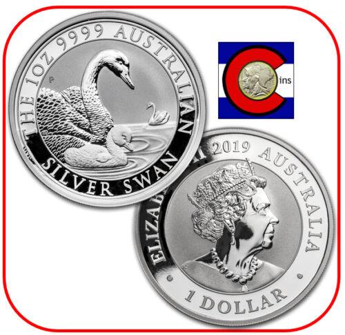 2019 Australia Silver Swan 1 oz Coin - BU direct from Perth Mint roll