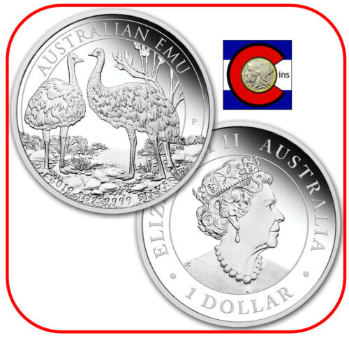 2019 Australia Emu 1 oz. 0.9999 Silver Coin - 2nd coin in Perth Mint series