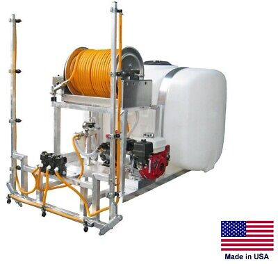 Sprayer Commercial - Skid Mounted - 9.5 Gpm - 580 Psi - 100 Gallon Tank - Mreel