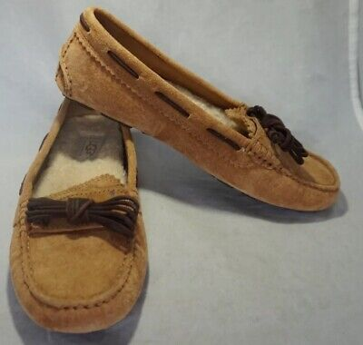 UGG Light Brown DAKOTA Sheepskin Moccasins Slippers Size 6 Very Nice for sale  Twin Falls