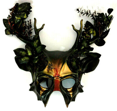 Forest Stag Witch Mask Pagan Wicca Horror Gothic Cosplay Collectible Halloween - Pagan Halloween Mask