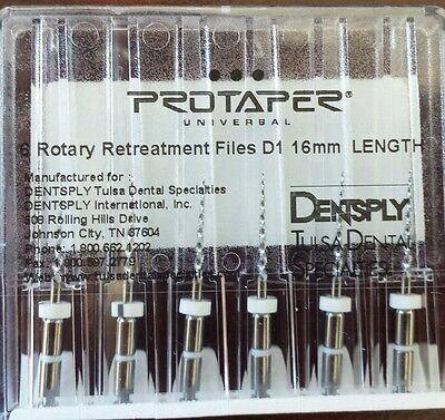 Dental Dentsply Tulsa Rotary Retreatment Protaper Universal Files 16 Mm D1