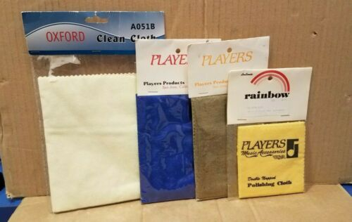 Lot of 4 assorted polish cloths Players vintage New in package Instrument