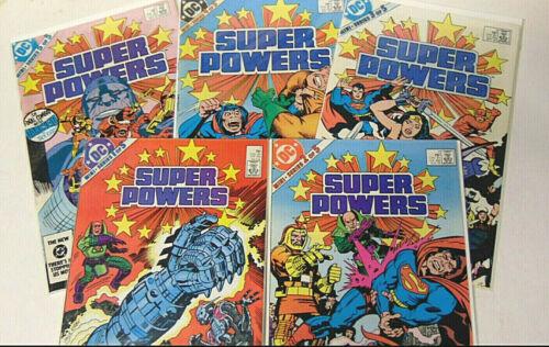 Super Powers #1 2 3 4 5 NM 1985 DC Comics Superman Joker Jack Kirby Complete Set