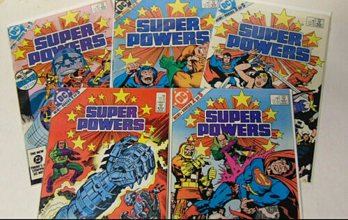 Set of Super Powers #1 2 3 4 5 VF/NM 1985 DC Comics Superman Joker Jack Kirby