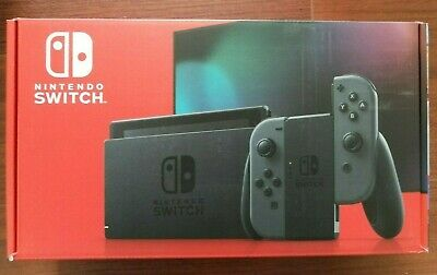 New Version Nintendo Switch with Gray Joy‑Con - HAC-001(-01)