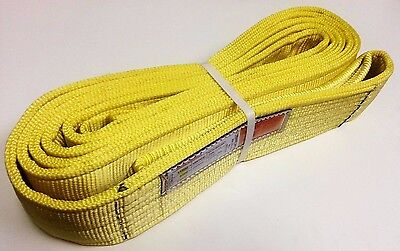 4 X 20 Tow Recovery Strap Lifting Sling Cargo Tie-down Strap 2-ply