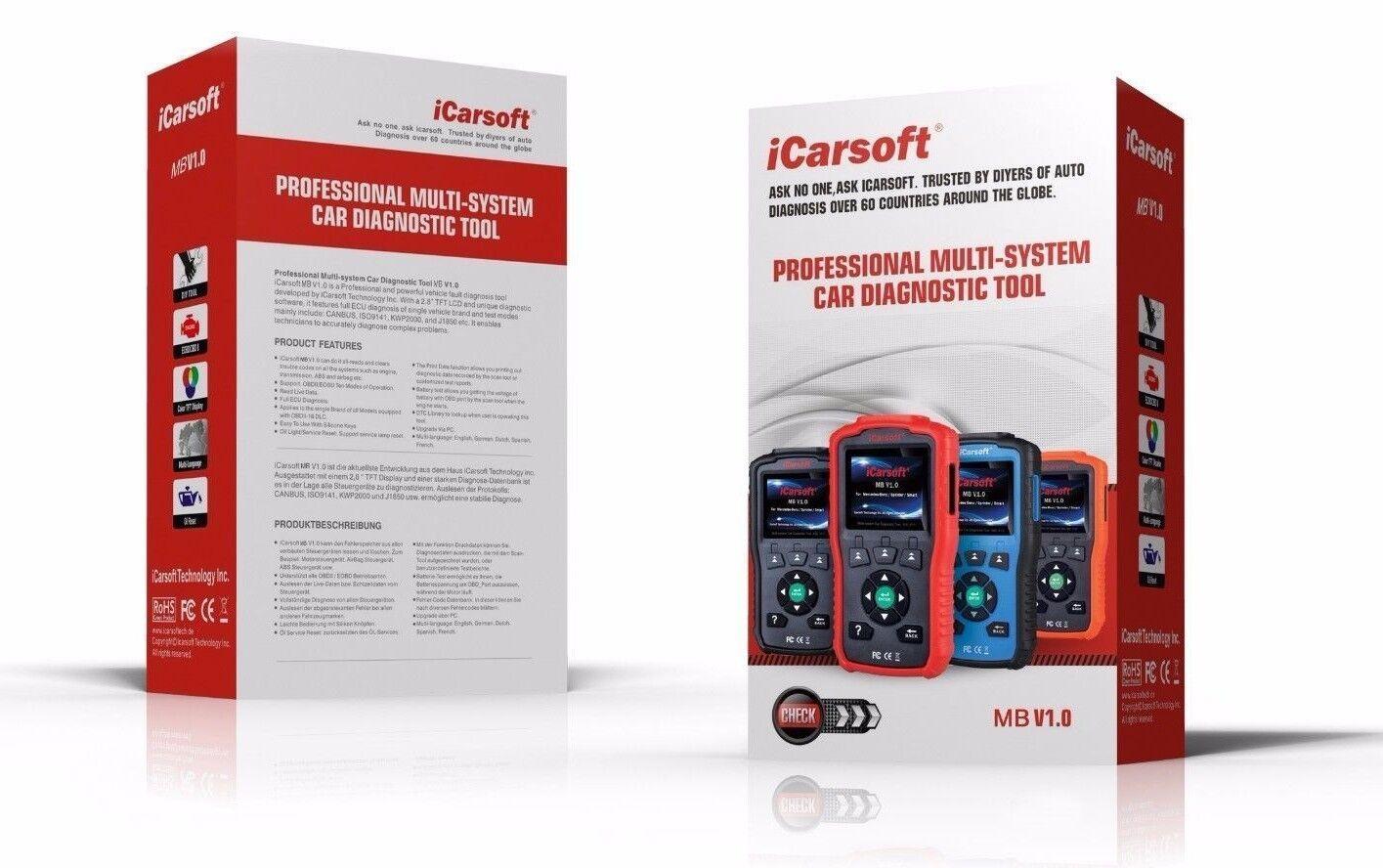 Mercedes Benz Sprinter Diagnostic Scanner Tool Oil Reset Icarsoft Mb V1.0 I980 - New for sale in ...