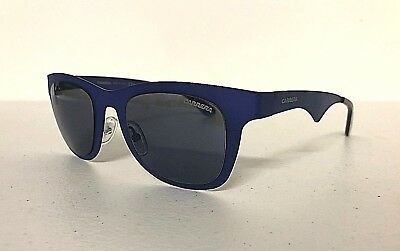 New CARRERA 6000 MT Mens' Sunglasses Blue Frame Mirror Lens Case By Jimmy Choo