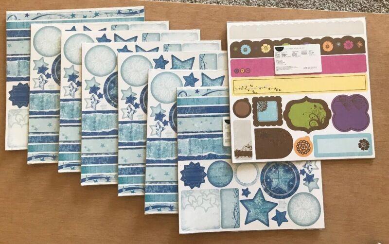 Set Of 8 Creative Memories Border Kits Simple Blooms & 7 Wishful New Sealed!