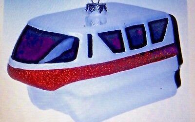 Disney World Monorail Blown Glass Ornament, NEW