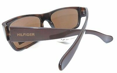 NEW men's TOMMY HILFIGER TH MARIO brown square  wrap shield sunglasses