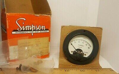 Simpson Cat. No. 08900 Panel Meter Model 125 0-100 Dc Amps Nos