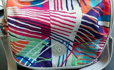 Preowned Kipling Insulated Lunch Bag Multi Print Crossbody No Charm