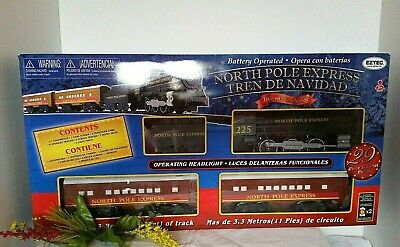 **NEW** EzTec North Pole Express Christmas Train Set Battery Operated ~ Holiday