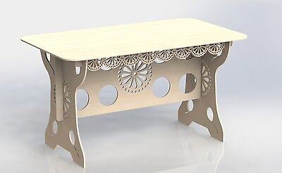 Provencal Table Project For Laser Cutting And Cnc Router Dxf Artcam Woodworking