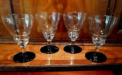 ABSOLUTELY FABULOUS SET OF 4 COCKTAIL GIN & TONIC GLASSES  VINTAGE RETRO