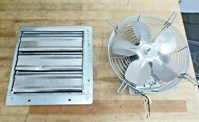 Tpi Shutter Mounted Direct Drive Exhaust Fan10 112hp 680cfm 120v 1a Ce10ds