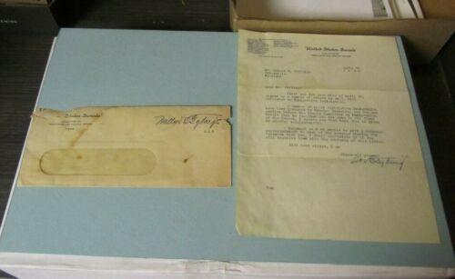 1939 Maryland Senator Millard Tydings Autograph Signed Letter + Franked Envelope