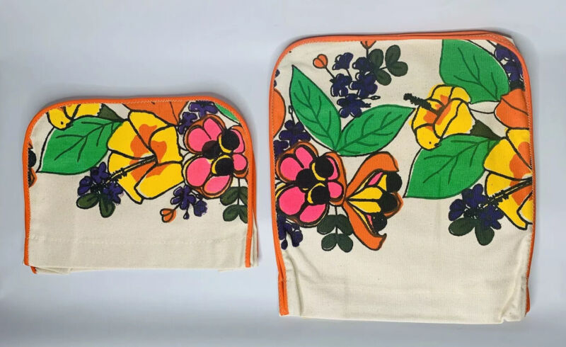 NEW Vintage Bold Floral Toaster and Mixer Cover Jamaica