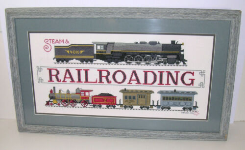 Steam Locomotive RAILROAD Cross Stitch Train Lover Gift Patricia Gaskin Picture