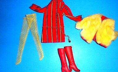 VTG Barbie  #1860 SMASHEROO  red shirtdress SET Fashions mod doll clothes 1960s