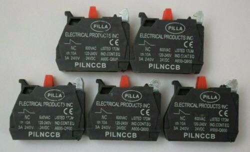 5 x Pilla PILNCCB Normally Closed Contact Block ZBE-102 3A 1NC - Bulk Discounts