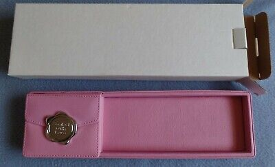 Carlton Cards Leather Pen Pencil Tray Desk Organizer Pink 11 X 3 6-33-240a