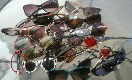 LOT OF SUNGLASSES/EYE GLASSES BROKEN FOR PARTS/REPAIR ONLY