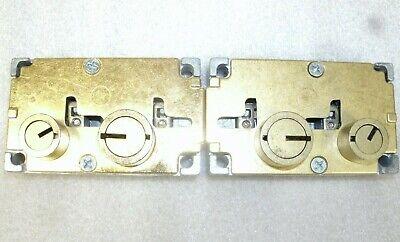 Lot Of 2 Diebold 17570 Safe Deposit Locks-1 Rh 1 Lh Used-locksmith Zero Bit