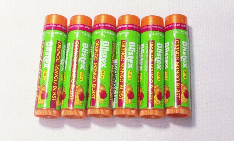 3 BLISTEX Lip Protectant/Sunscreen SPF 15 ORANGE MANGO BLAST