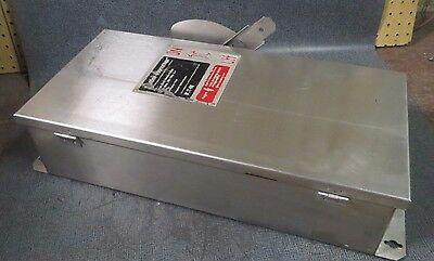 Cutler Hammer Stainless Dc Safety Switch 100 Amp 600v 3 Pole Model Dh363uwk