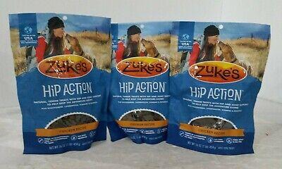(LOT OF 3) Zuke's Natural Hip & Joint Dog Treats 16 oz bag