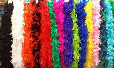 6' Feather Boas Parties, Team Spirit, Halloween, Weddings, Princess, Mardi - Halloween Feather Boas