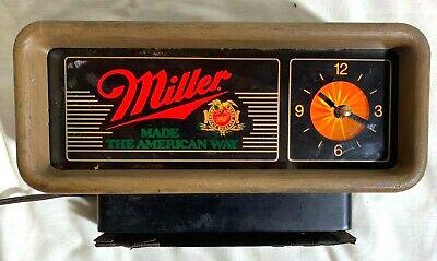 Vintage MILLER HIGH LIFE Beer Bar Motion Clock Sign. Lighted!  Works Great!