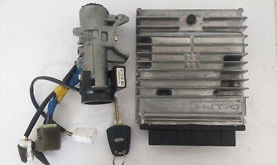 SsangYong Rodius 04-14 2.7 ECU With Ignition Barrel & Key A6655404032 R0411C013E