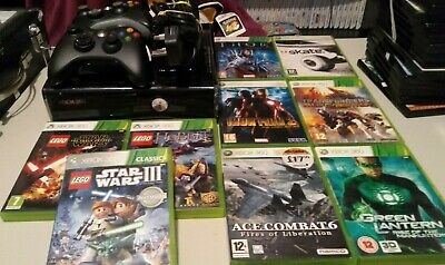 Xbox 360 250Gb S Console Bundle with 2 Controllers and 9 Games