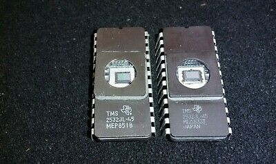 2 Tms2532jl-45 Ti Texas Instruments Uv Erasable Eprom 32k 4k X 8