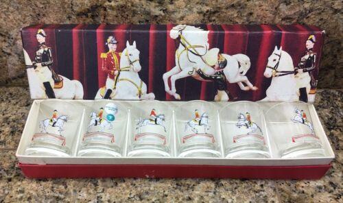 6 Shot Glasses- Lipizzaner Spanish Riding School- In Box Lipizzan Edelglas Horse