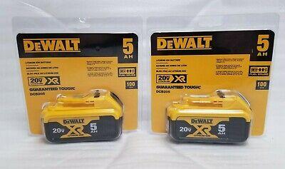 2 Brand New Dewalt XR DCB205 20 VOLT Lithium 5 AMP Battery