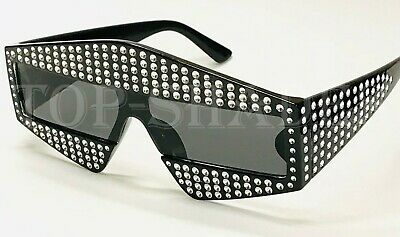 Oversize F Bling Rhinestone Fashion Square New Model Square Men Women (Sunglasses Models For Men)