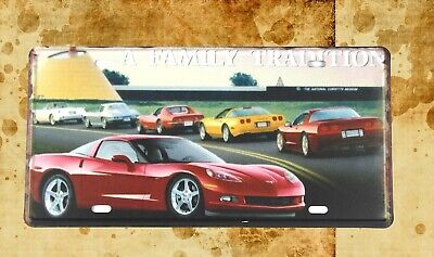 US Seller- wall decor themes automobile Family Tradition tin sign car plate - Car Themed Decor