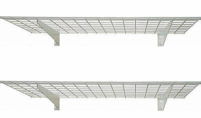 Shelving Units And Storage Garage Closet Wire Metal Wall Mount Shelves 2 Pack