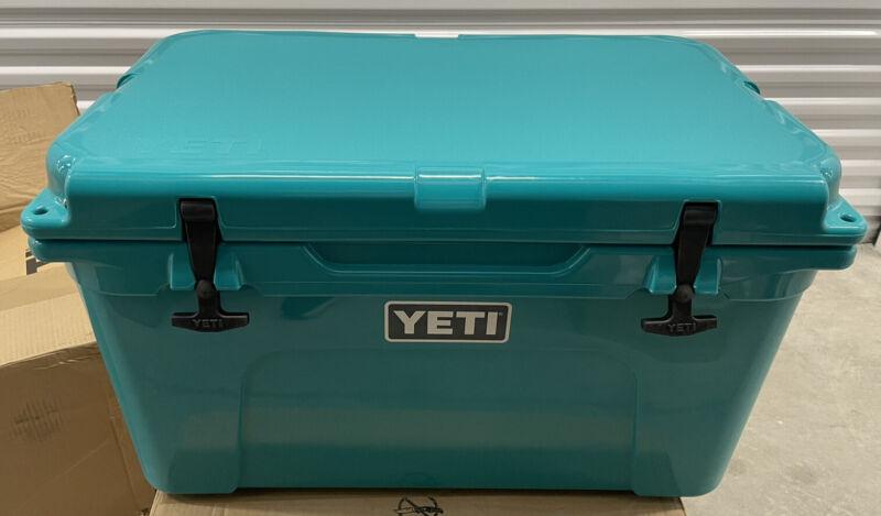 YETI Tundra 45 Cooler Aquifer Blue Teal Used In Box Nice Shape- Last 1
