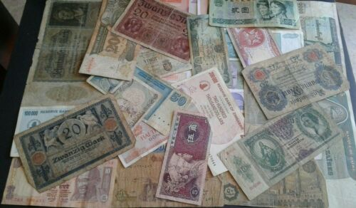 WORLD OLD PAPER MONEY LOTS *****30 OLD  BANK NOTES*****