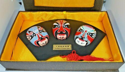 Asian Mask of Chinese Opera Orient Crafts Collectible Wall Decor Original box