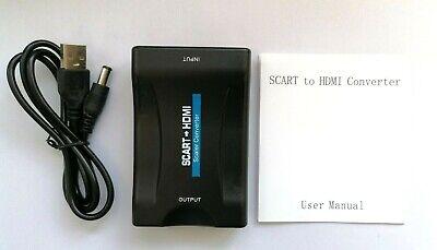 Nuevo Scart A HDMI Compuesto Audio Video Upscale Adaptador Convertidor Para DVD