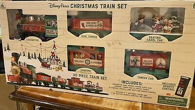 Disney Parks Christmas Train Set Mickey & Friends 30pc NEW w/ remote control